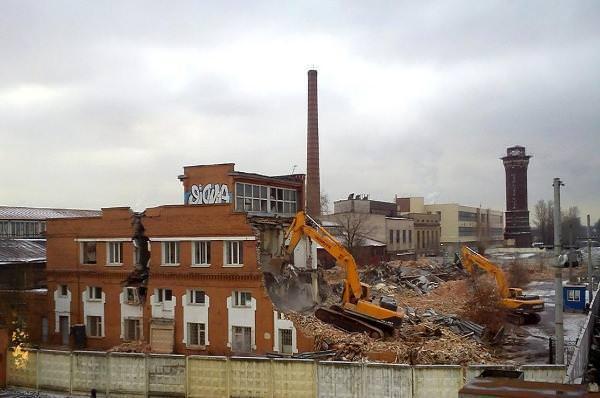 Снос сооружений в Москве