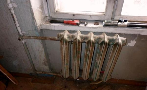 Демонтаж старых радиаторов