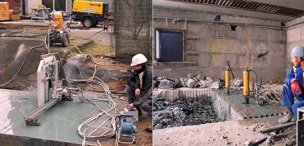 Демонтаж бетонный стяжки