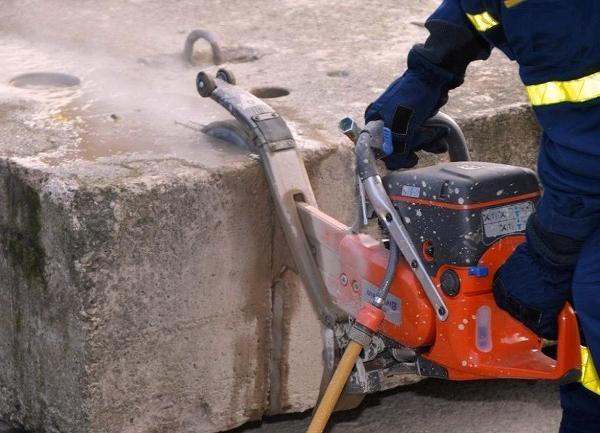 Резка бетонные блоки
