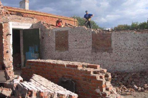 Фото снос стен