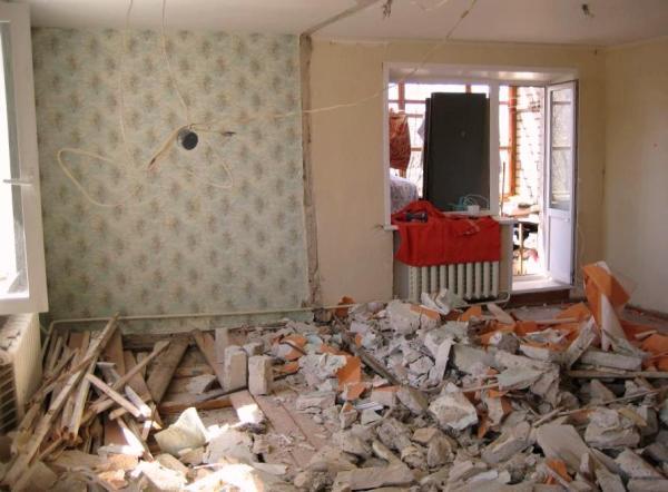 Демонтаж перегородки кухни