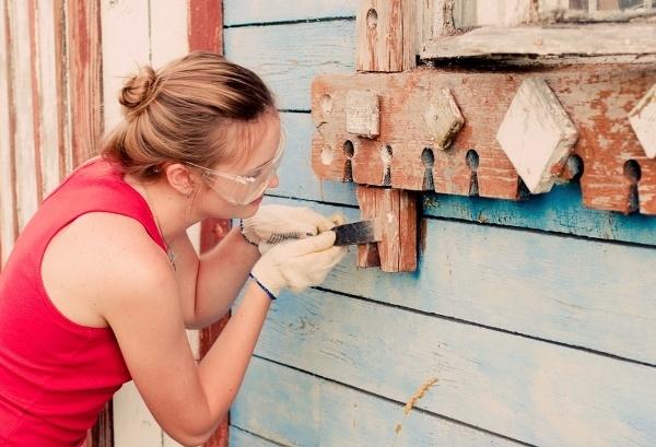 Подготовка окон для покраски