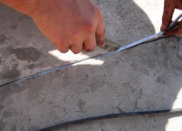 Изоляция бетонных швов