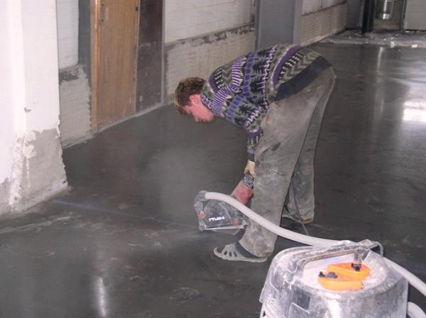 Нарезка швов в бетонных полах