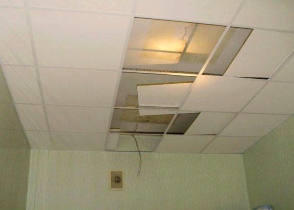 Демонтаж подвесных потолков из гипсокартона