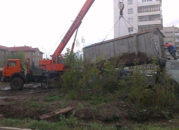 Снос железных гаражей
