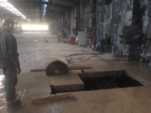 Резка армированного бетона