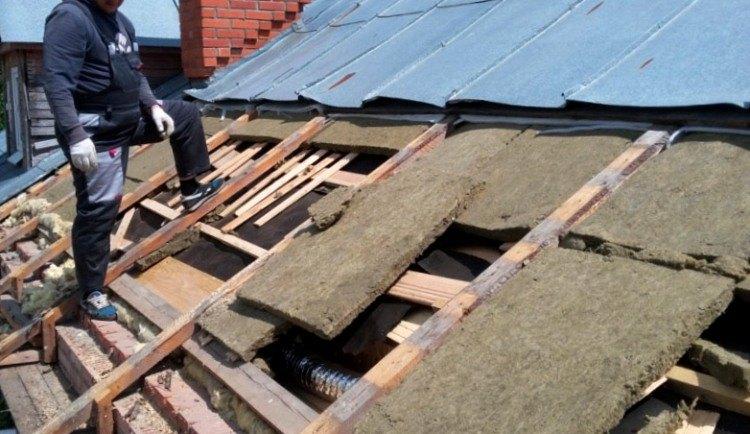 Демонтаж крыши