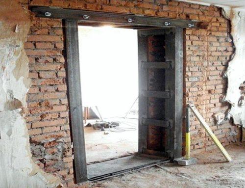 Вырубка дверных проемов
