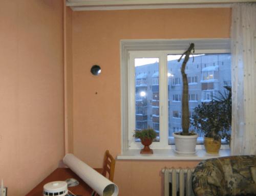 Установка приточного клапана в стене
