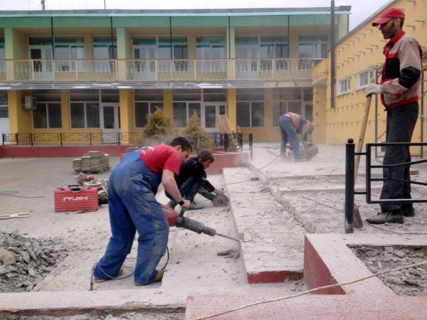 Слом бетона