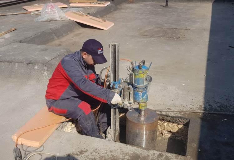 Сверление бетонных крыш