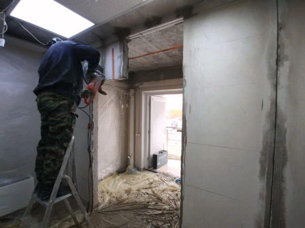 Демонтаж стен алмазная резка