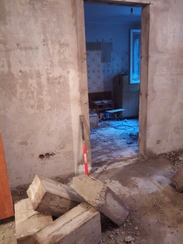 Резка проема в бетонной стене