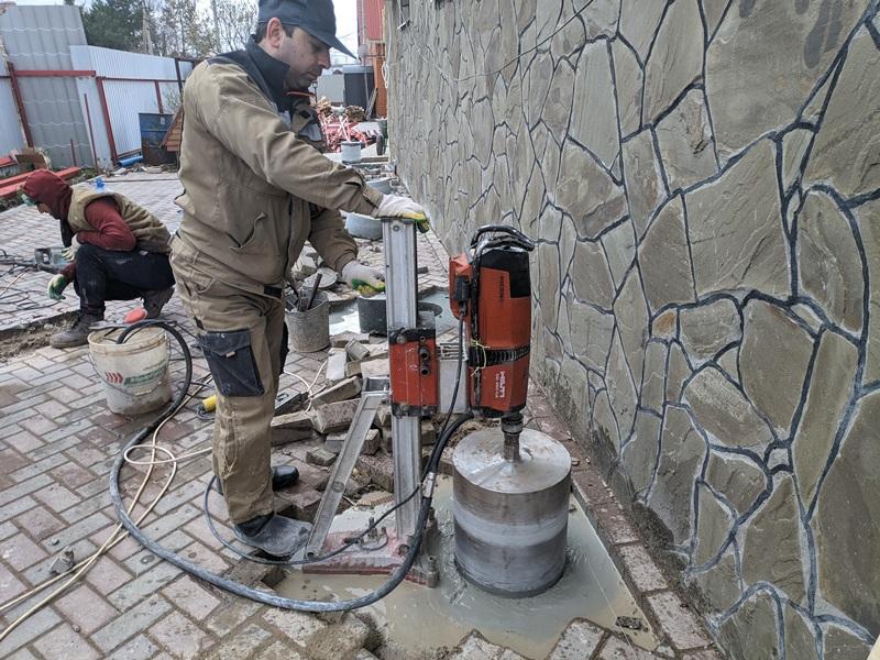 Бурение в бетонной стяжке